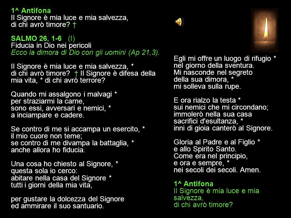 23 OTTOBRE 2013 MERCOLEDÌ - I SETTIMANA DEL SALTERIO DEL T. O. VESPRI V. O Dio, vieni a salvarmi. R. Signore, vieni presto in mio aiuto. Gloria al Pad