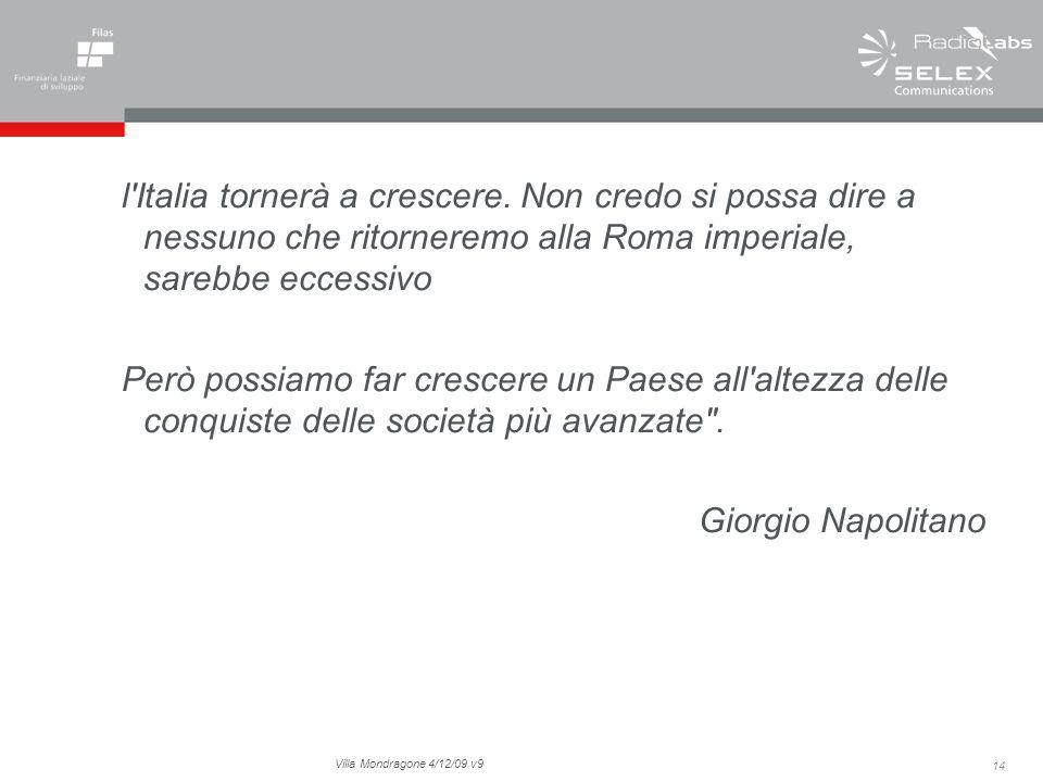 14 Villa Mondragone 4/12/09 v9 l Italia tornerà a crescere.