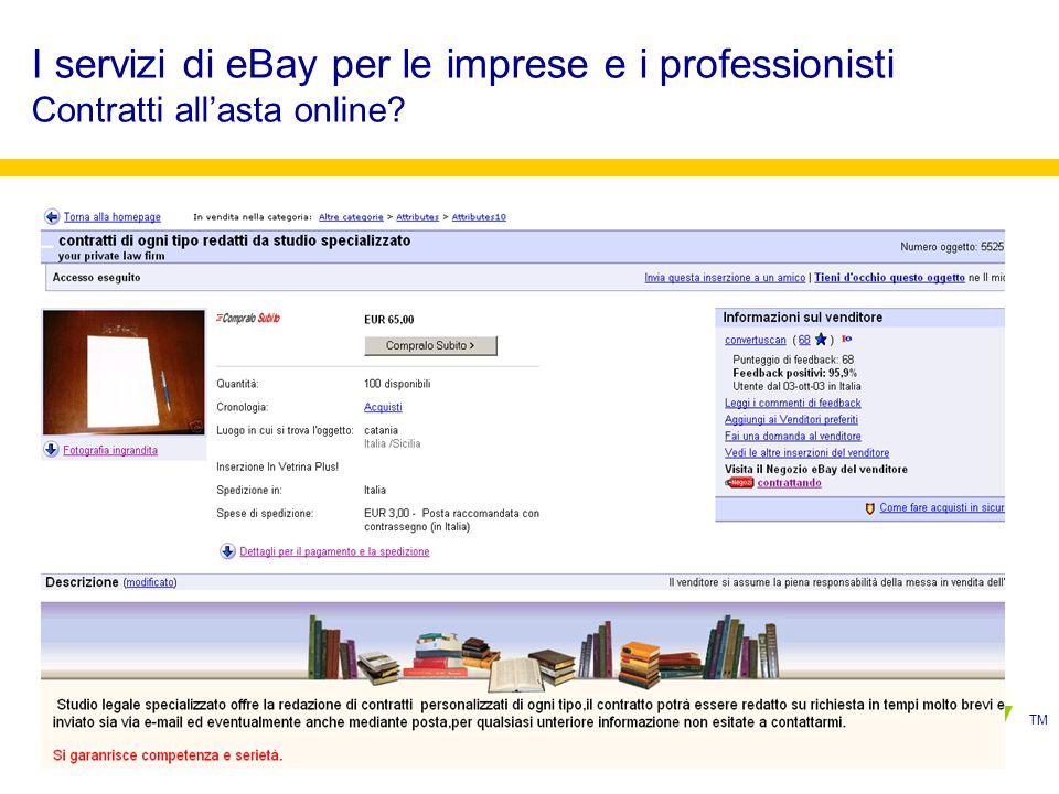 TM I servizi di eBay per le imprese e i professionisti Contratti allasta online