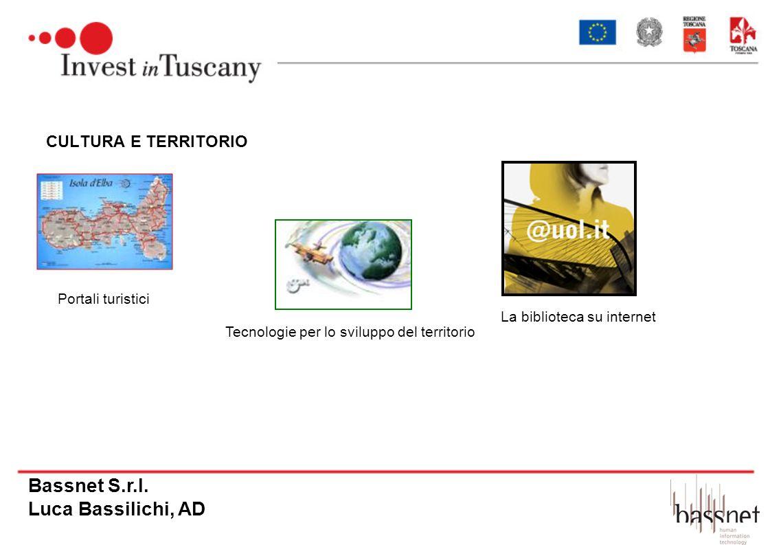 CULTURA E TERRITORIO Portali turistici Tecnologie per lo sviluppo del territorio La biblioteca su internet Bassnet S.r.l. Luca Bassilichi, AD
