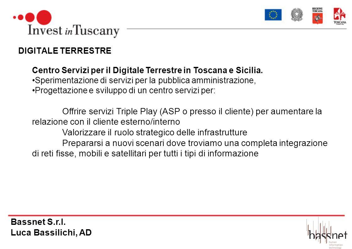 DIGITALE TERRESTRE Centro Servizi per il Digitale Terrestre in Toscana e Sicilia. Sperimentazione di servizi per la pubblica amministrazione, Progetta