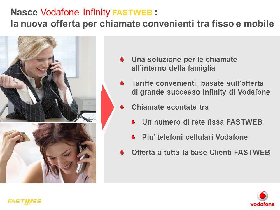 Nasce Vodafone Infinity FASTWEB : la nuova offerta per chiamate convenienti tra fisso e mobile Una soluzione per le chiamate allinterno della famiglia