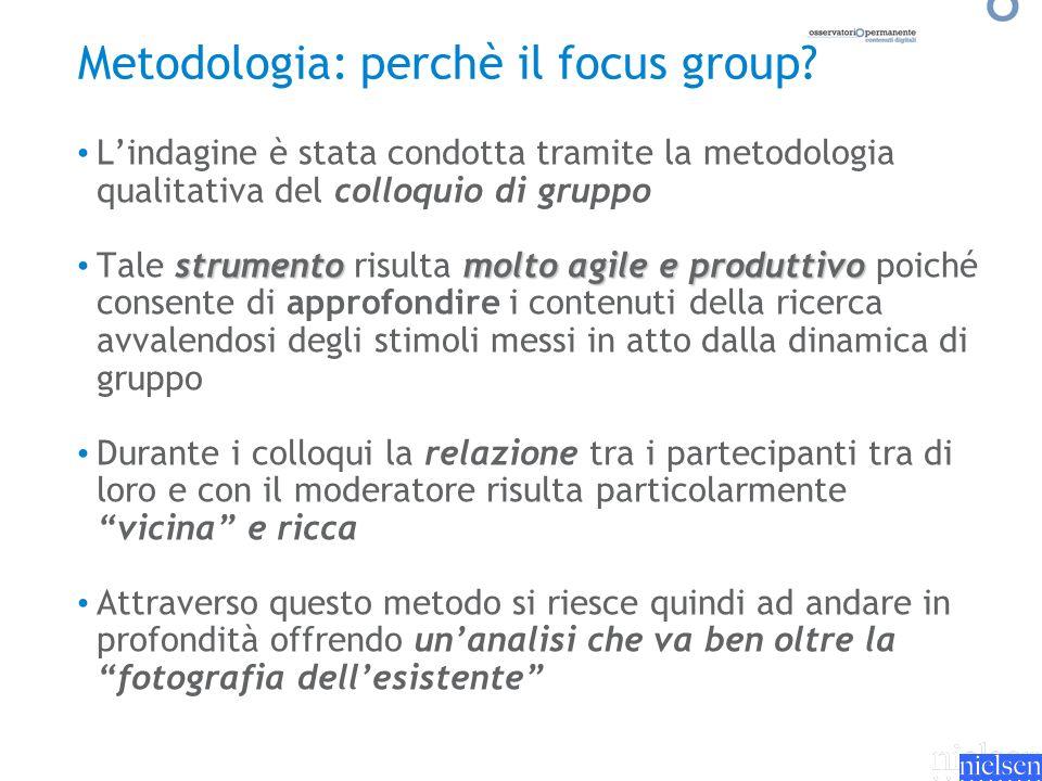 Lindagine è stata condotta tramite la metodologia qualitativa del colloquio di gruppo strumentomolto agile e produttivo Tale strumento risulta molto a