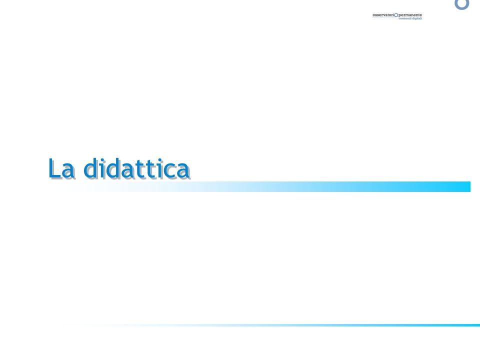 Utilità indiscussa e unanime viene riconosciuta alle nuove tecnologie come supporto allo studio: Offrono maggiore Flessibilità Comportano maggiore Interattività Offrono maggiore Immediatezza Velocizzano la fase di raccolta delle informazioni Parlano un linguaggio più attuale/contemporaneo Sono contigue al mondo giovanile anche al di fuori della didattica Trasferiscono unidea di maggiore libertà e personalizzazione Didattica e Nuove Tecnologie: le conferme