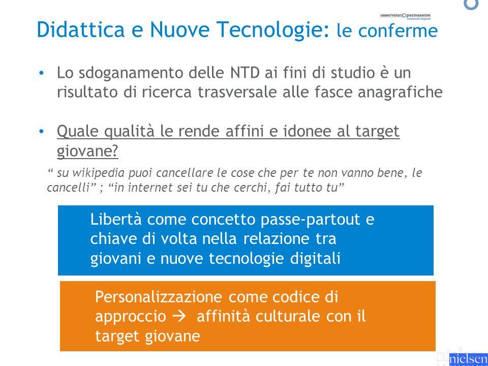 Libertà come concetto passe-partout e chiave di volta nella relazione tra giovani e nuove tecnologie digitali Lo sdoganamento delle NTD ai fini di stu