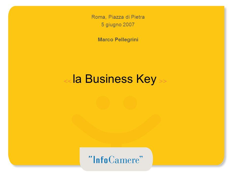 Roma, Piazza di Pietra 5 giugno 2007 Marco Pellegrini la Business Key