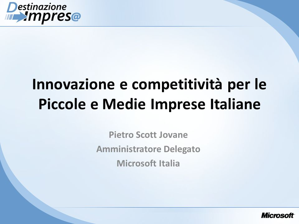 Pietro Scott Jovane Amministratore Delegato Microsoft Italia
