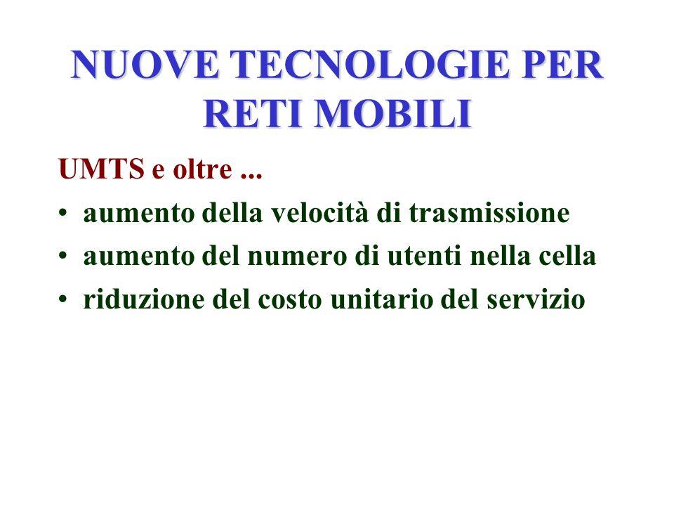 NUOVE TECNOLOGIE PER RETI MOBILI UMTS e oltre...
