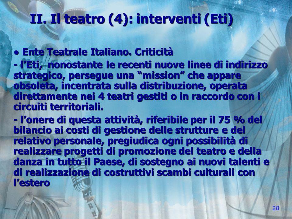 II. Il teatro (4): interventi (Eti) Ente Teatrale Italiano.