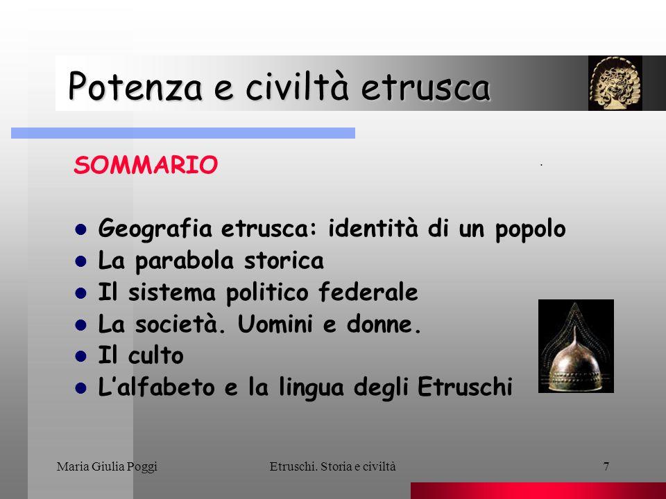 Maria Giulia PoggiEtruschi.Storia e civiltà18 Potenza e civiltà etrusca Lidentità etrusca.