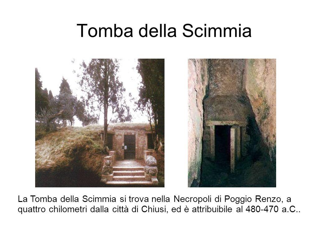 Tomba della Scimmia La Tomba della Scimmia si trova nella Necropoli di Poggio Renzo, a quattro chilometri dalla città di Chiusi, ed è attribuibile al