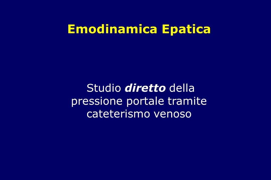 Emodinamica Epatica Studio diretto della pressione portale tramite cateterismo venoso