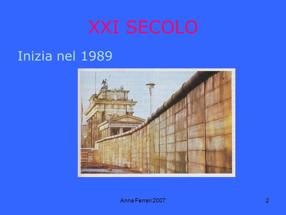 Anna Ferrari 20072 XXI SECOLO Inizia nel 1989