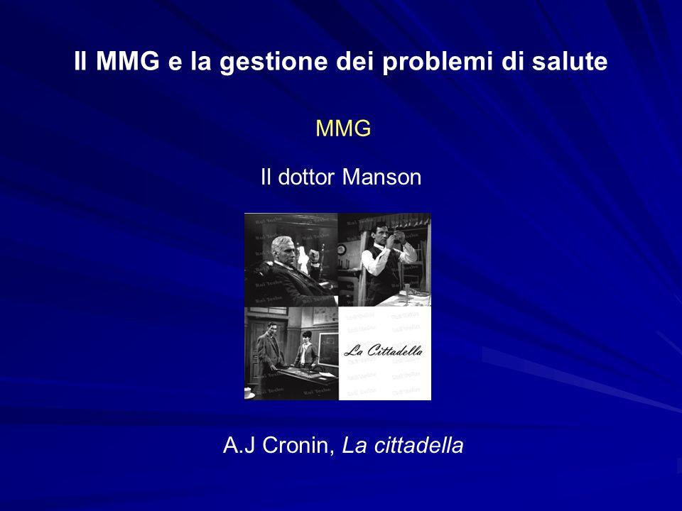 Il MMG e la gestione dei problemi di salute MMG I sani sono malati che non sanno di esserlo.
