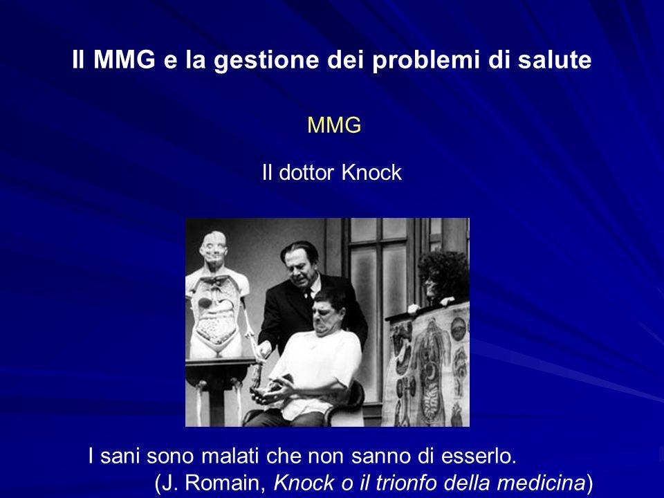 Il MMG e la gestione dei problemi di salute MMG Il dottor Tersilli