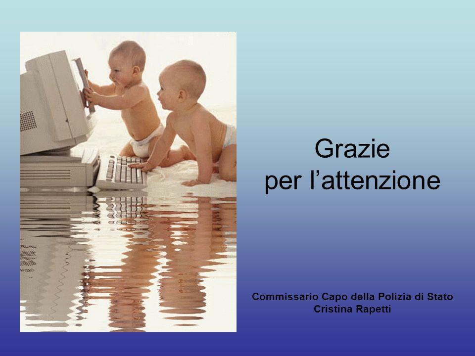 Grazie per lattenzione Commissario Capo della Polizia di Stato Cristina Rapetti