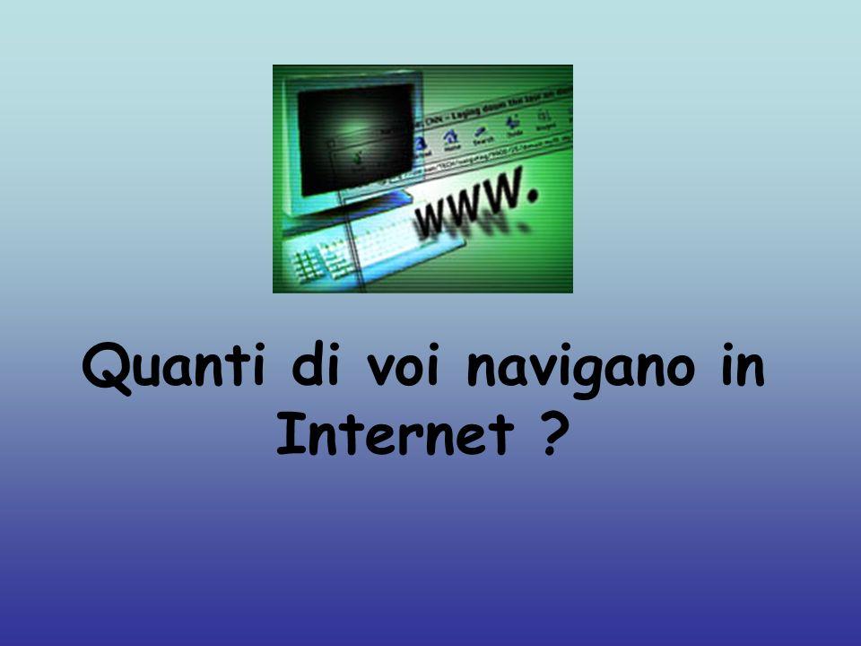 Quanti di voi navigano in Internet ?