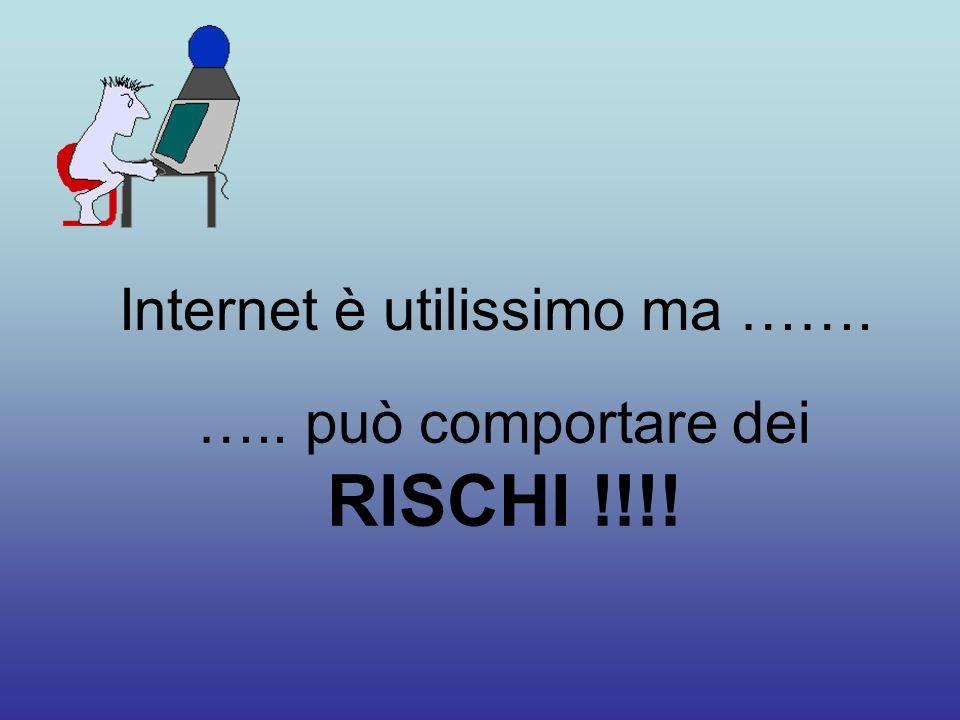 Internet è utilissimo ma ……. ….. può comportare dei RISCHI !!!!