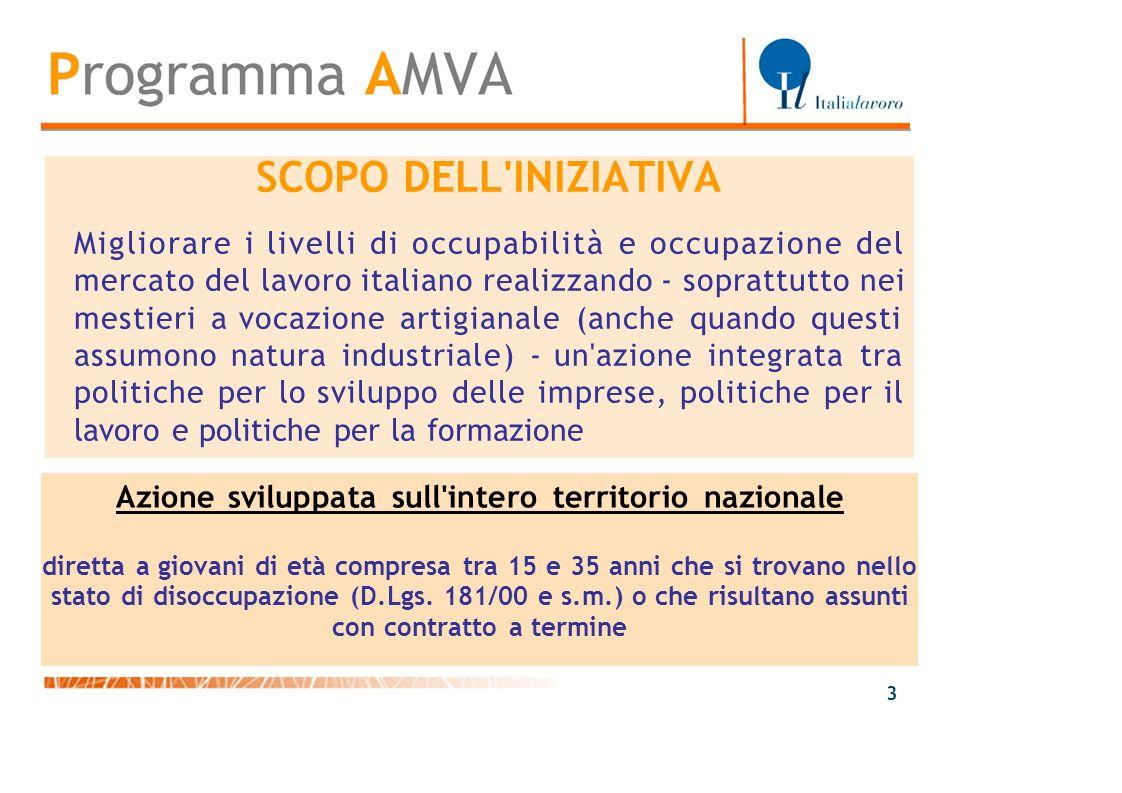 SCOPO DELL'INIZIATIVA Migliorare i livelli di occupabilità e occupazione del mercato del lavoro italiano realizzando - soprattutto nei mestieri a voca