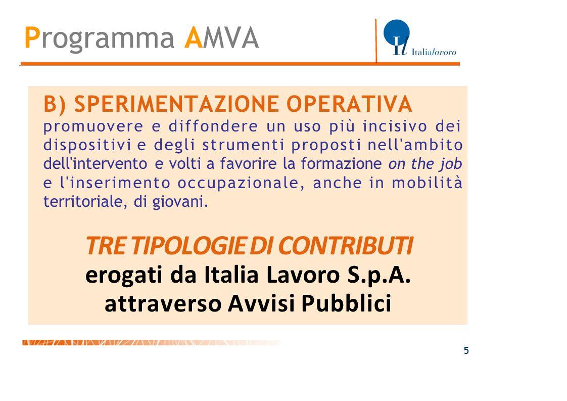 B) SPERIMENTAZIONE OPERATIVA promuovere e diffondere un uso più incisivo dei dispositivi e degli strumenti proposti nell'ambito dell'intervento e volt