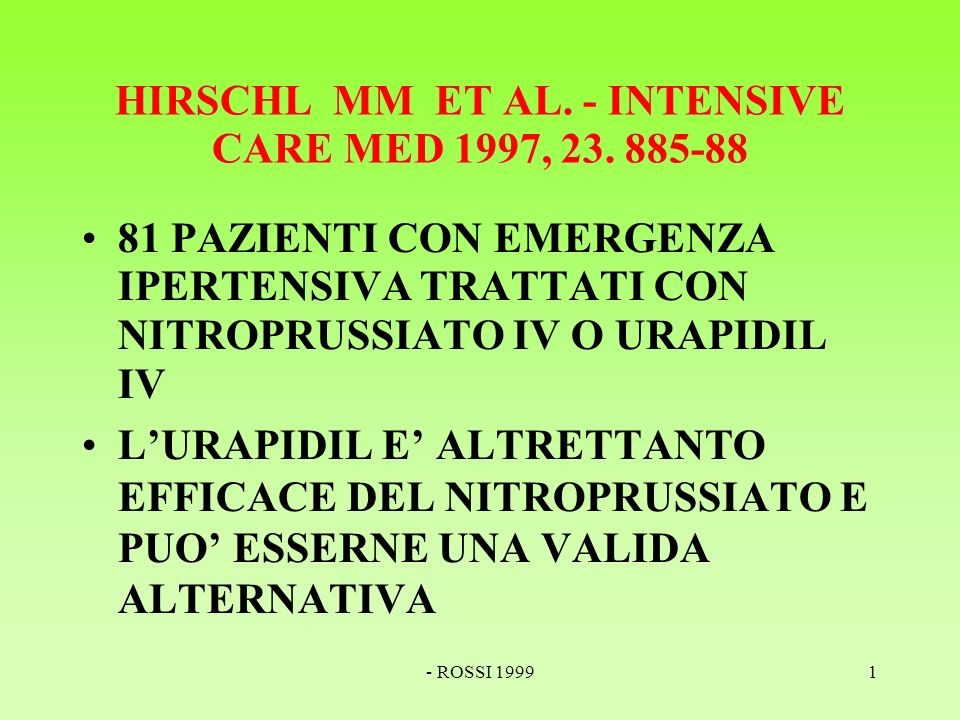 - ROSSI 19991 HIRSCHL MM ET AL. - INTENSIVE CARE MED 1997, 23.