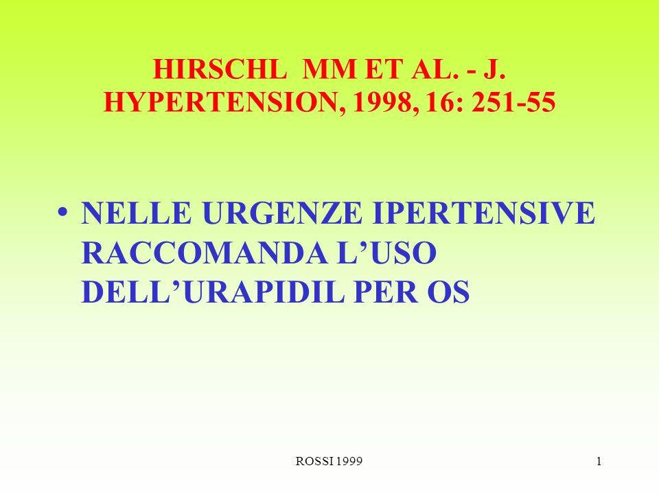 ROSSI 19991 HIRSCHL MM ET AL. - J.