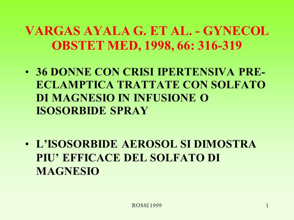 ROSSI 19991 VARGAS AYALA G. ET AL.