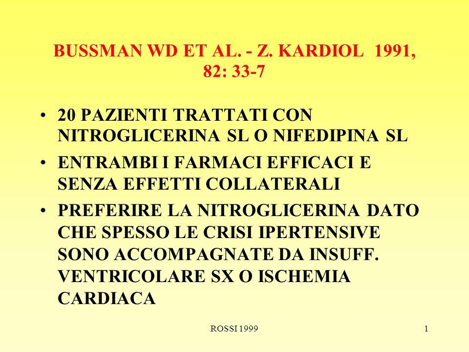 ROSSI 19991 BUSSMAN WD ET AL. - Z.