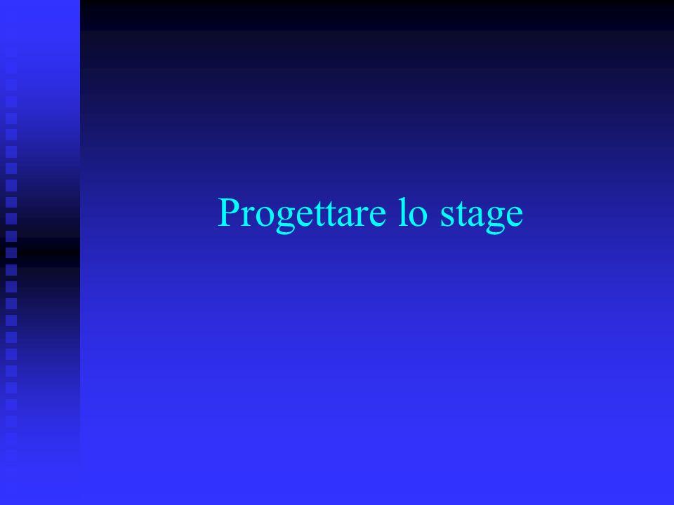 Progettare lo stage