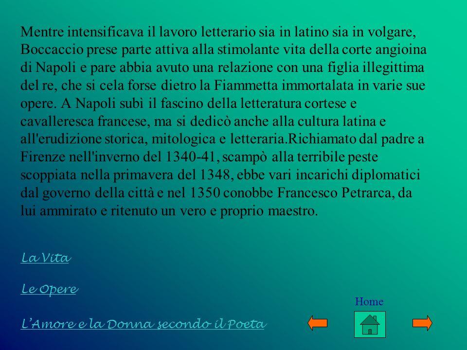 I due scrittori rimasero amici fino alla morte: Boccaccio incontrò nuovamente Petrarca a Padova nel 1351, a Milano nel 1359 e si recò a Venezia appositamente per fargli visita nel 1363.Per il Comune della sua città fu ambasciatore presso Ludovico di Baviera nel 1351.