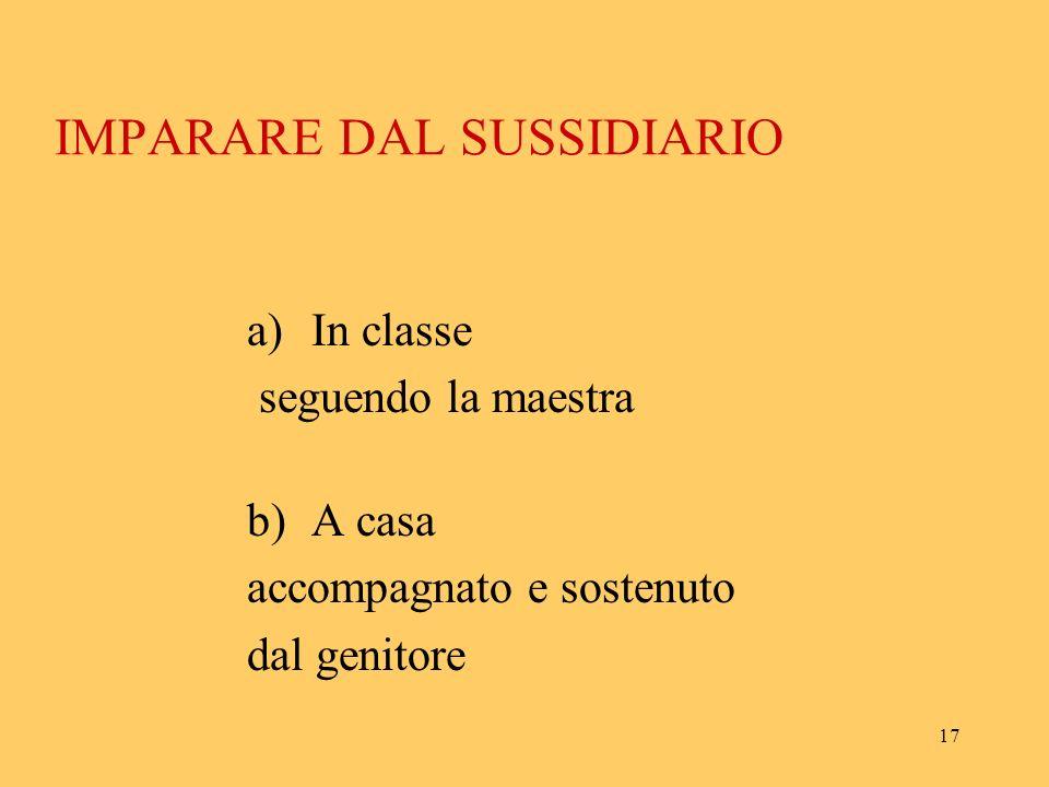 16 attraverso limmedesimazione, con le domande e le risposte, durante le narrazioni-spiegazioni, classe compagnia guidatanelle interrogazioni. N.B. Qu