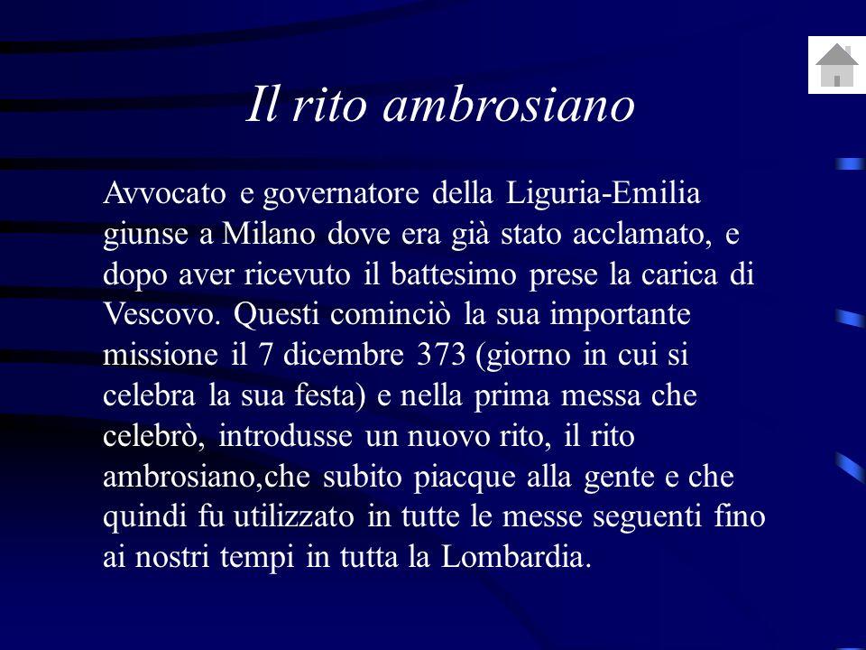 Avvocato e governatore della Liguria-Emilia giunse a Milano dove era già stato acclamato, e dopo aver ricevuto il battesimo prese la carica di Vescovo.