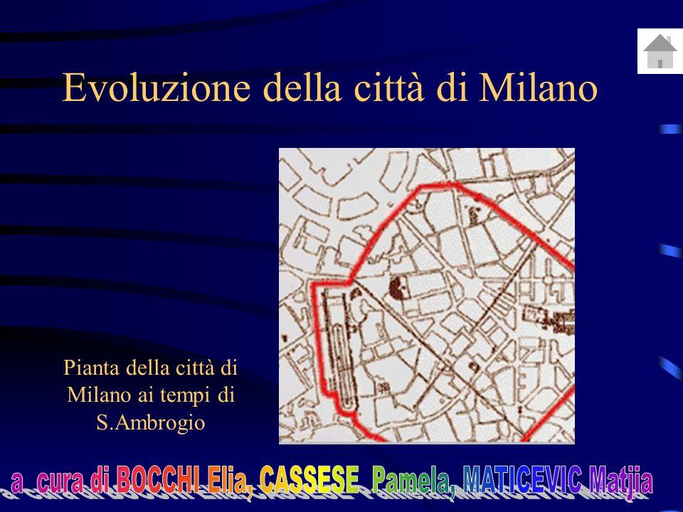 Evoluzione della città di Milano Pianta della città di Milano ai tempi di S.Ambrogio