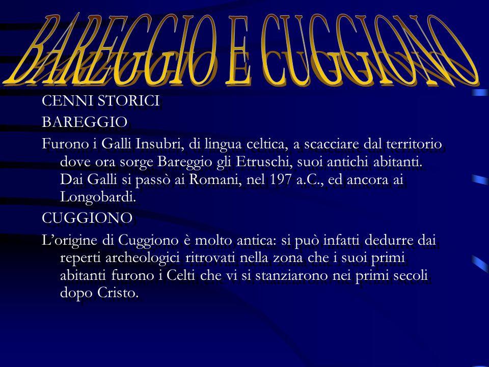 CENNI STORICI BAREGGIO Furono i Galli Insubri, di lingua celtica, a scacciare dal territorio dove ora sorge Bareggio gli Etruschi, suoi antichi abitanti.