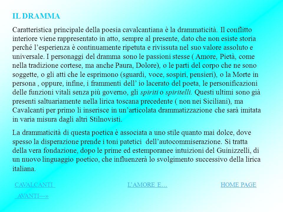 Il dramma Lamore CAVALCANTI HOME PAGE CAVALCANTI HOME PAGE