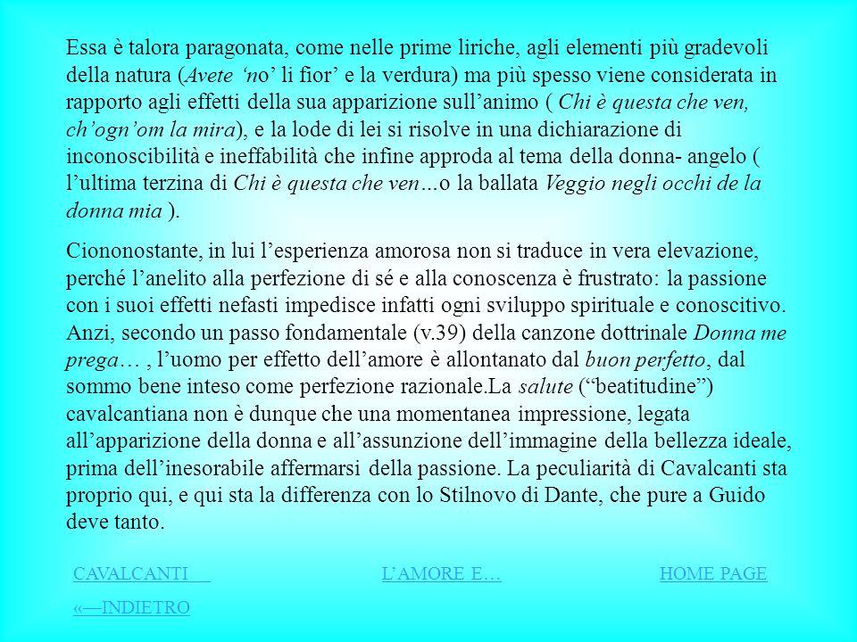 LAMORE Dallaverroismo ( interpretazione di Aristotele secondo il filosofo arabo Averroè) prende sostanza filosofica la concezione pessimistica del Cav