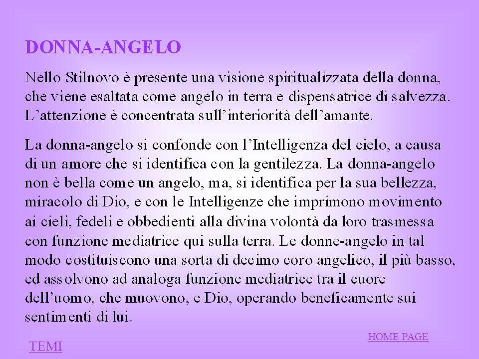 – I « CUORI GENTILI» – Il tema fondamentale della poesia guinizzelliana è la reciproca e naturale intesa tra amore e cuor gentile.