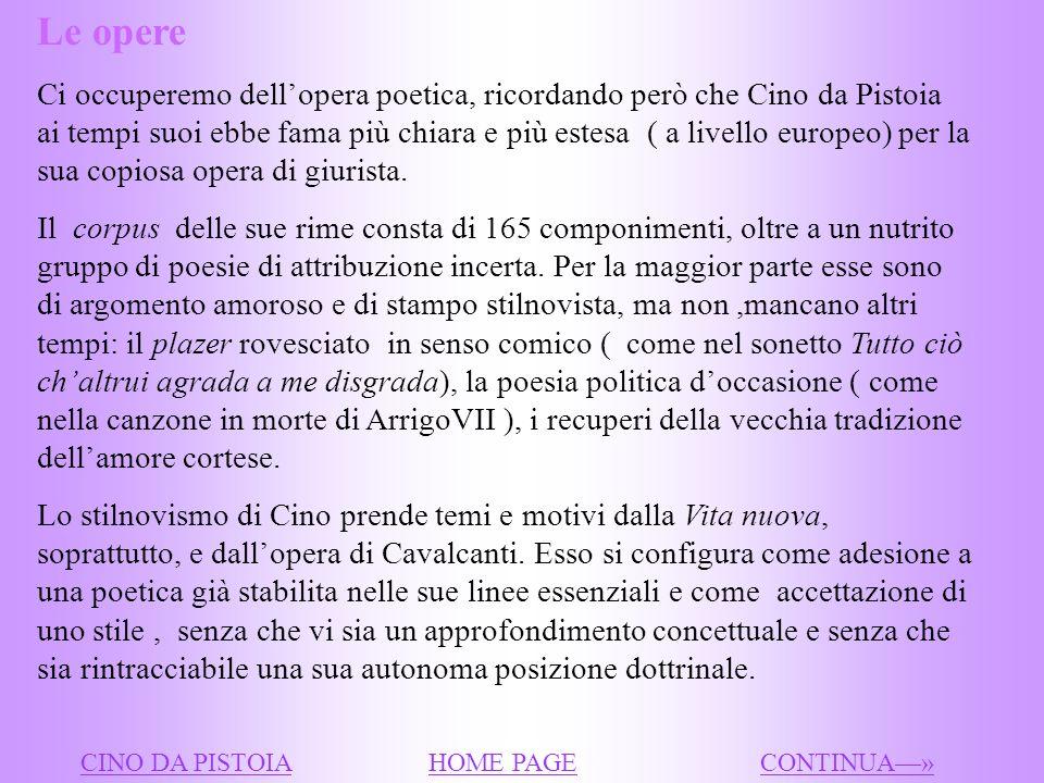 I passi del De vulgari eloquentia che lo riguardano testimoniano la stima che Dante ebbe di lui come poeta e sul piano personale ( lAlighieri menziona