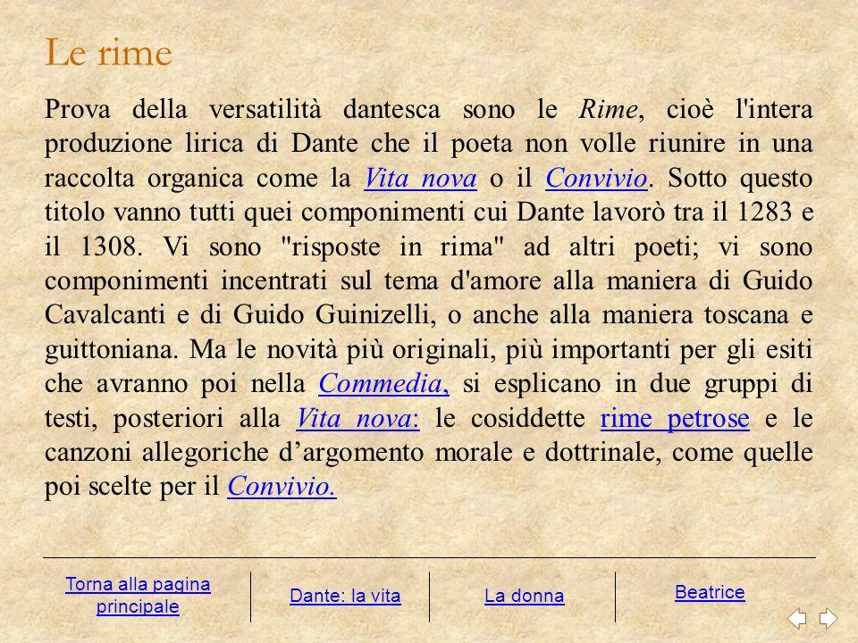 Bisogna accostarsi al soprasenso di cui Dante la riveste, che è culminante nella realtà psicologica della Commedia.