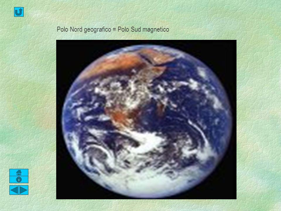 Polo Nord geografico = Polo Sud magnetico