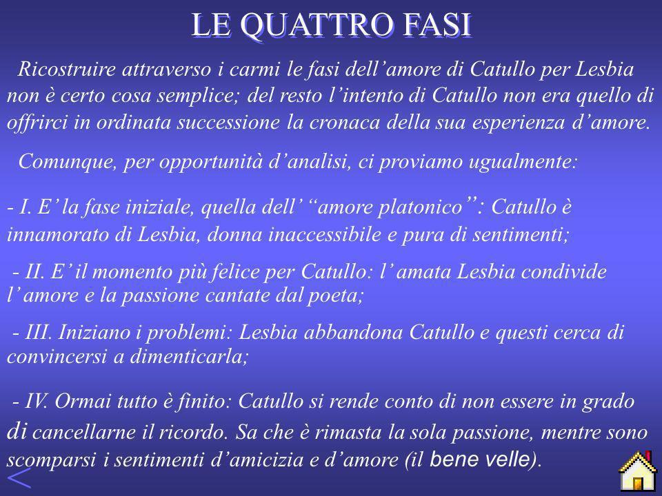 UN AMORE COMPLESSO Lamore è per Catullo innanzi tutto un foedus, un patto inviolabile di reciproca stima e di attaccamento incondizionato.