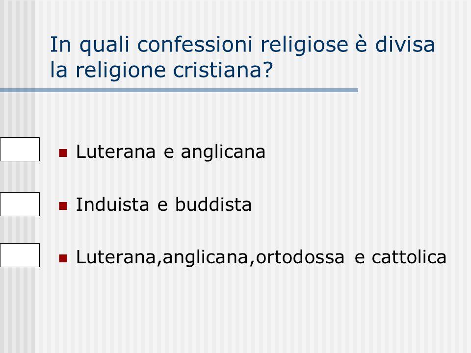 Qual è la religione che prevale in Europa Cattolica Buddista Cristiana