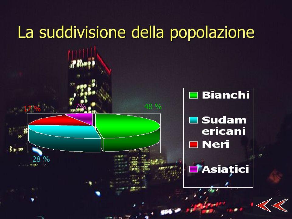 La suddivisione della popolazione 7% 17 % 28 % 48 %