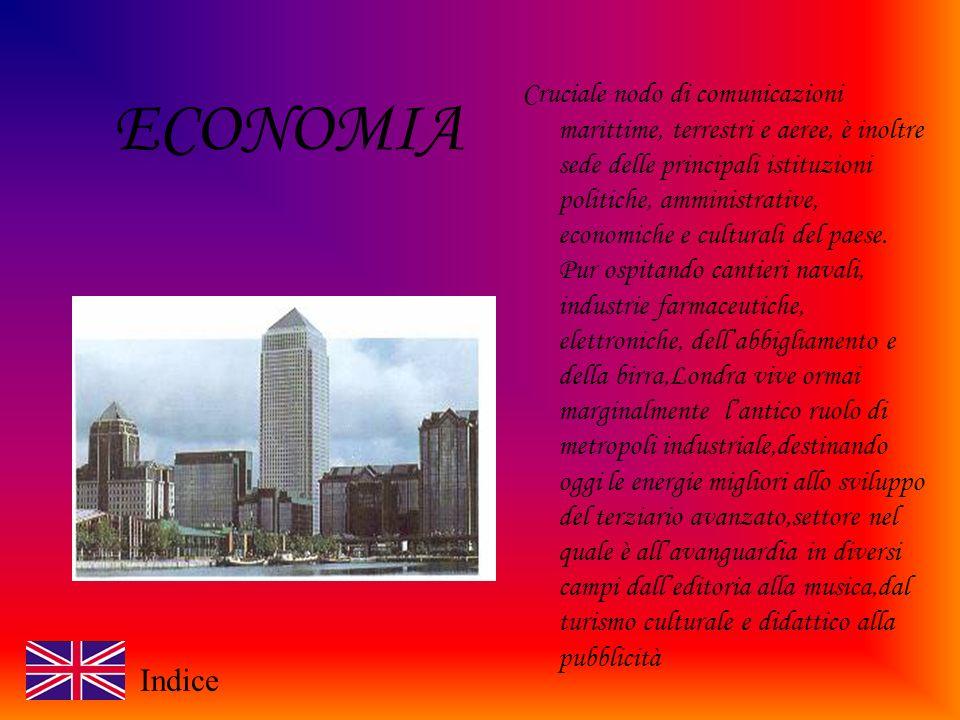ECONOMIA Cruciale nodo di comunicazioni marittime, terrestri e aeree, è inoltre sede delle principali istituzioni politiche, amministrative, economiche e culturali del paese.
