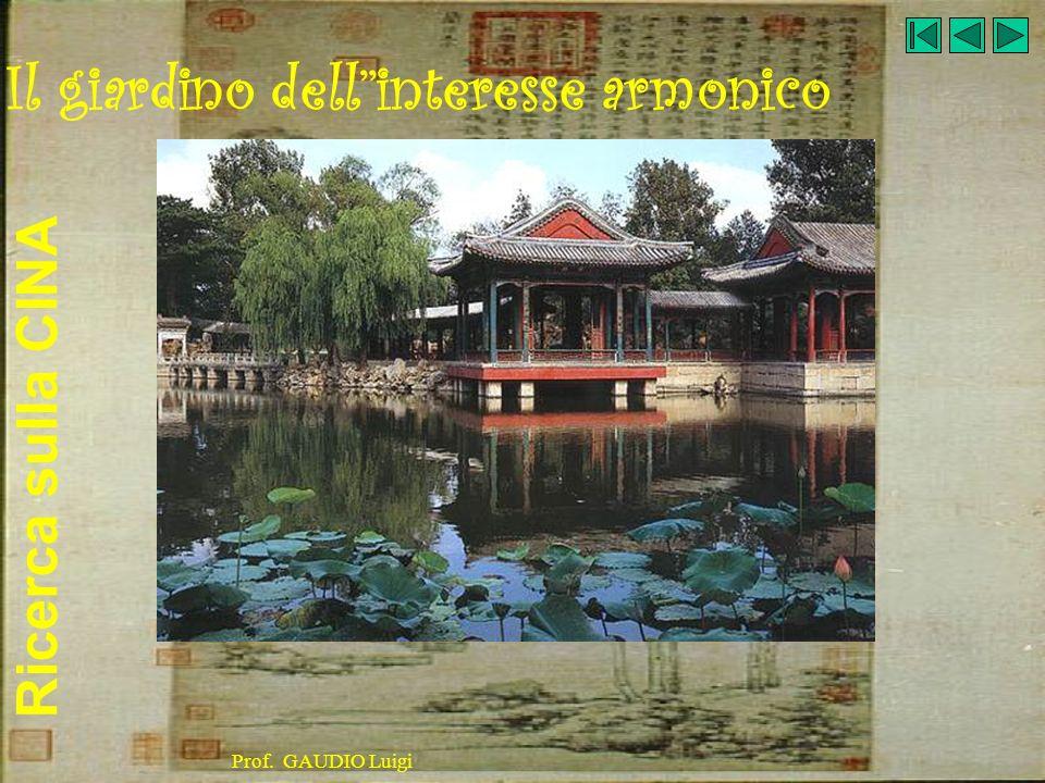 Ricerca sulla CINA Prof. GAUDIO Luigi Il giardino dellinteresse armonico