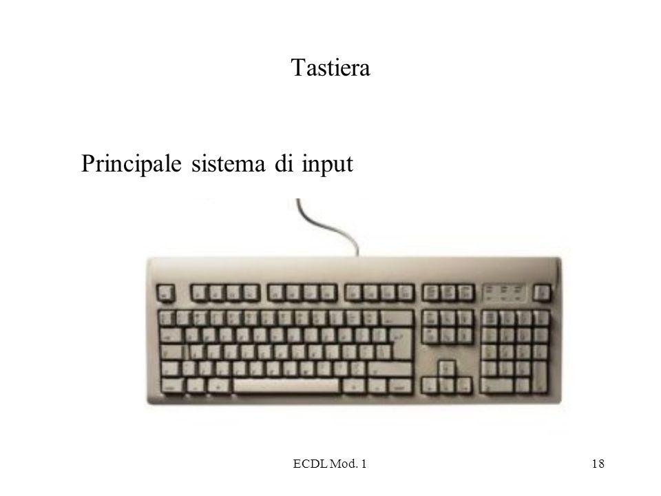 ECDL Mod. 118 Tastiera Principale sistema di input