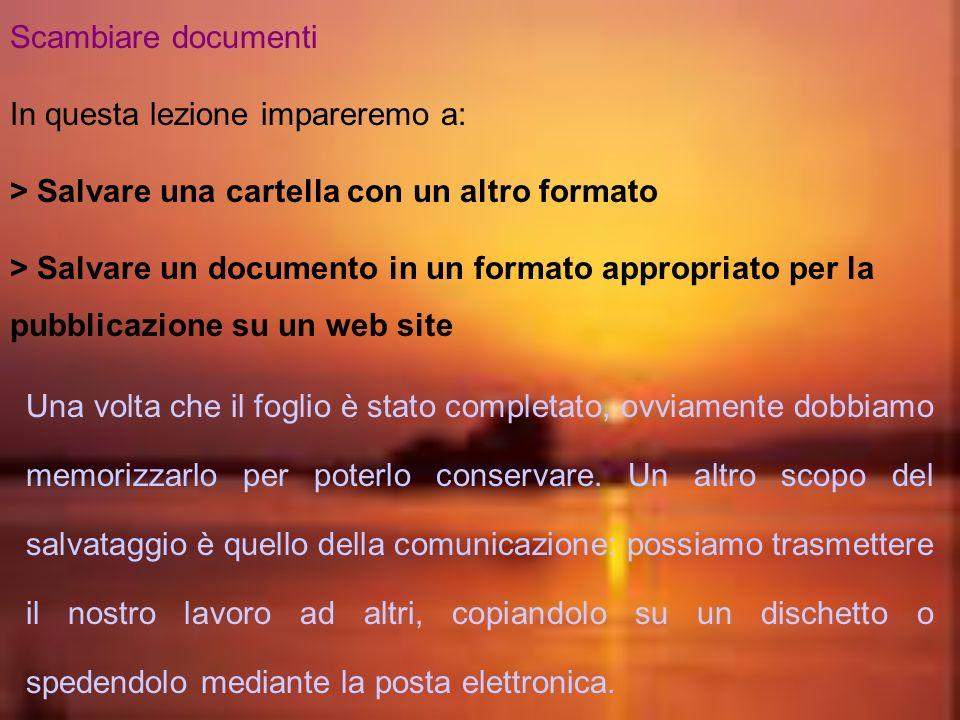 Creazione di una barra di menu personalizzata Vogliamo creare una barra dei menu per gestire limpaginazione del foglio elettronico. eseguiamo visualiz