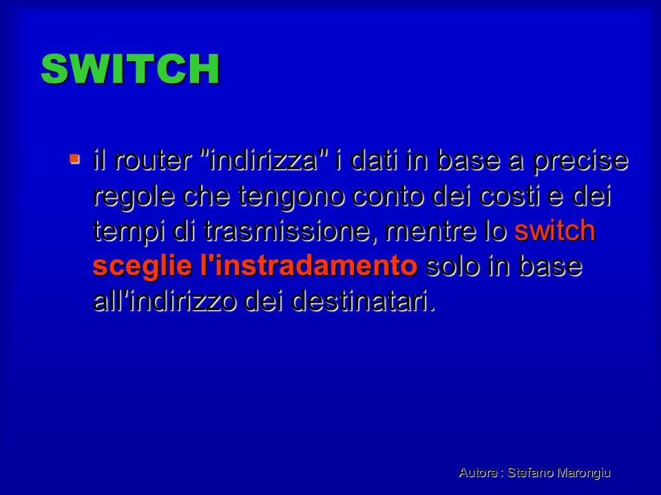 Autore : Stefano Marongiu SWITCH il router