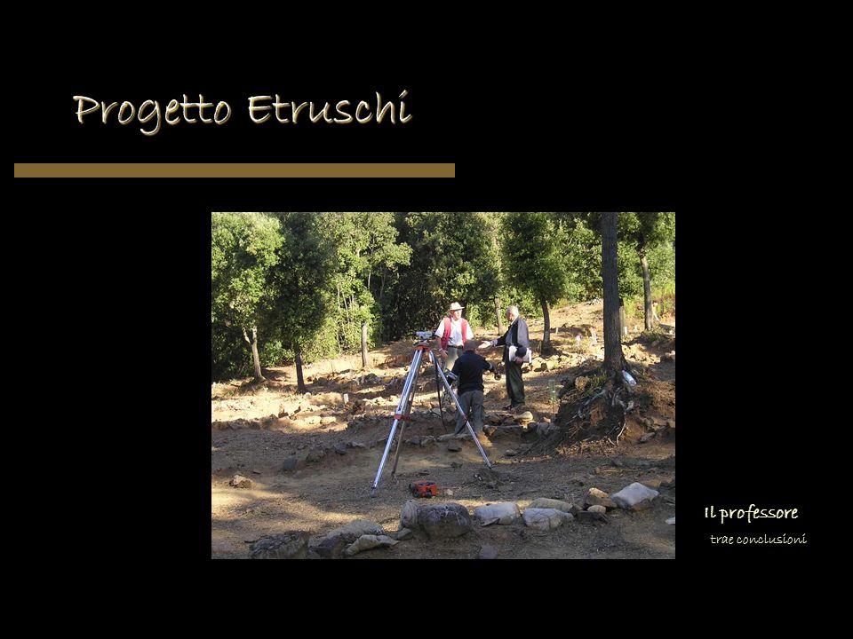 Progetto Etruschi Il professore trae conclusioni