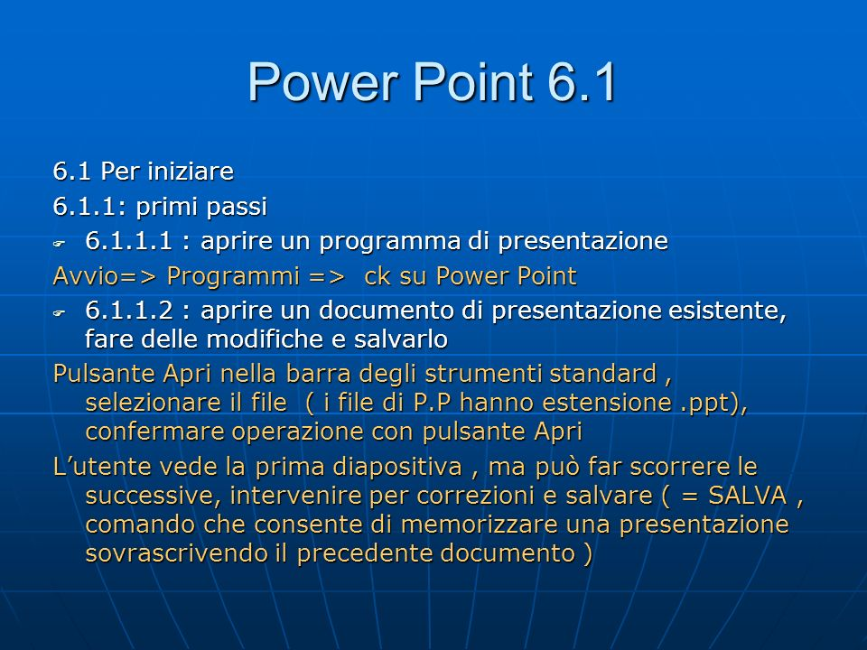 Power Point 6.2.